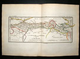 Barthelemy 1790 Antique Map Arcadia, Greece